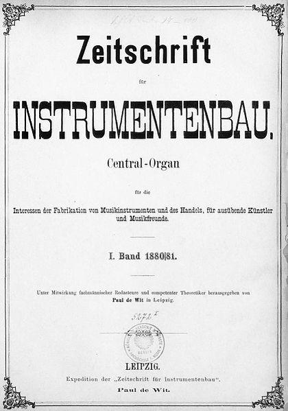 Zeitschrift für Instrumentenbau 1880-1881